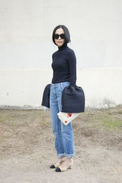PARIS, FRANCE - OCTOBER 4: Fashion Blogger Yoyo wears a Celine top and sunglasses and Chanel shoes on day 6 during Paris Fashion Week Spring/Summer 2016/17 on October 4, 2015 in Paris, France. (Photo by Kirstin Sinclair/Getty Images)